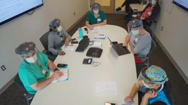 Collaboration at a conference table