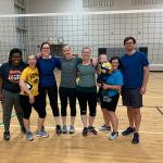 Playing volleyball as a team