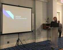 Resident Annaliese Bosco gives presentation at INA conference