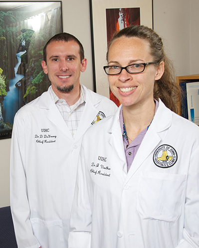 Drs. Voelker and DeYoung, photo
